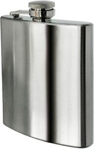 HIP FLASK Stainless Steel Pocket Drink Whisky Flasks Alcohol Gift Steel UK