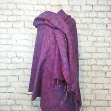 Zig Zag Asian Collection NWT Women's Purple Made in Nepal Scarf Wrap One Size