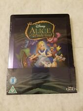 Alice in Wonderland (Animated) STEELBOOK Blu Ray UK Disney SOLD OUT SEALED