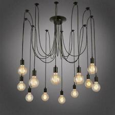 6/8/10 Way Retro Ceiling Light Modern Vintage Shade Spider Metal Pendant Lamp UK