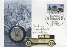 D-219 DDR-Numisbrief Zwickau - Automobilstadt