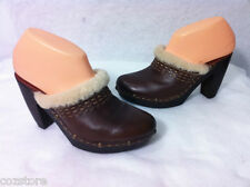 Nine West Best Around Womens Leather Clogs Size 8 M
