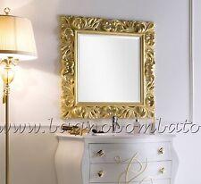 Specchio Specchiera Barocco Legno Foglia Oro Argento Su Misura