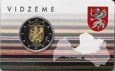 IN STOCK - LATVIA 2 Euro 2016 commemorative COINCARD - VIDZEME