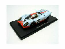 Voitures de courses miniatures bleus Porsche 1:43