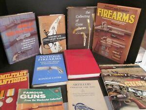 10 GUN FIREARM BOOKS ASSORTMENT MILITARY ANTIQUE PISTOL REVOLVER