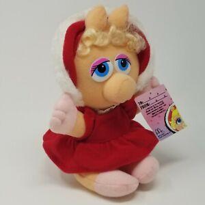McDonalds Presents Baby Miss Piggy Plush 1988 Muppet Babies Christmas Henson Toy