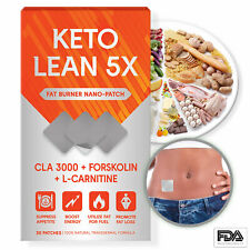 Fat Burner Patch L-Carnitine Boost Energy Diet Energy Keto Burn Weight Loss
