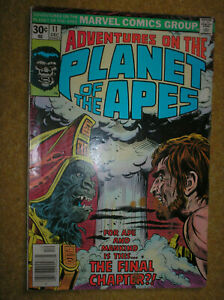 ADVENTURES ON THE PLANET OF THE APES # 11 LAST ISSUE 30c 1976 MARVEL COMIC BOOK