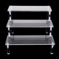 Premium Clear 3-Layer Collectibles Action Figures Dolls Kids Toys Stand DIY