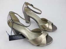 Croft & Barrow NEW Saris Metallic Womens Size 9 High Heels Ankle Strap Sandals