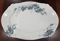 Antique Johnson Bros England Paris Pattern Large Serving Platter c1900-13 Blue