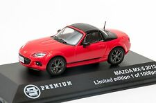 2013 Mazda MX-5 in Red, Triple9 T9P-10003, scale 1:43, adult car gift model