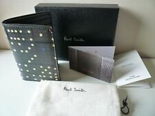 Paul Smith Men's Wallet CC Case Domino Design 100 Calf Leather