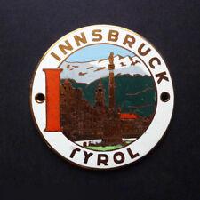 Nice Quality Austrian 'Innsbruck' Car Badge. 1950s – MINT & UNUSED