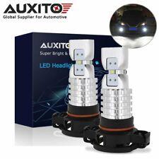 2x AUXITO PSX24W 2504 LED Fog Light Bulb Front DRL 6000K for GMC Chevrolet
