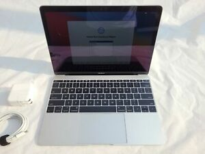 Laptop Computer MacBook 12 1.2 GHZ 8GB 256GB Silver Retina With Power Supply