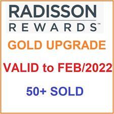 Club Carlson/Radisson Gold Status (Valid till FEB 2022)