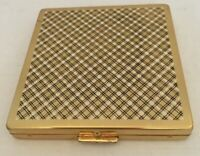 Vintage Harriet Hubbard Ayer Square Gold-Tone Compact