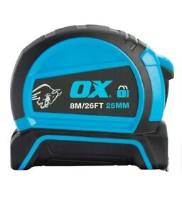OX TRADE DOUBLE LOCKING TAPE MEASURE  8M OX-T505208