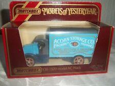 MATCHBOX MODELS OF YESTERYEAR Y30 1920 MODEL AC MACK - ACORN STORAGE CO