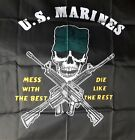 US Marines Corps Fahne Flagge Flag 150 x90 mess with the best die like the rest