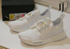New Adidas NMD R1 PK Japan Triple White Nomad Primeknit BZ0221 SIZE 5 LIMITED