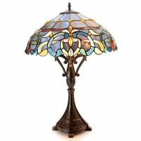 "Tiffany-Style Bristol 26"" Victorian-Inspired Stained Glass Table Lamp #K428324"