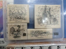 Rooster grapes house sunflower STAMPIN UP RUBBER STAMP 24L