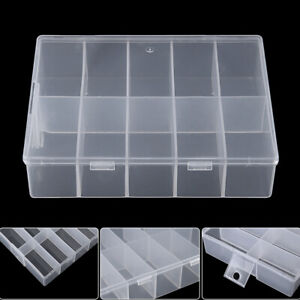 Empty Case Box Storage Container - Display Nail Tips Rhinestone Gem Ring Jewelry