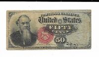 50 Cents 4th Issue Fractional Currency Fr. 1376 Green Reverse Fine Note #3