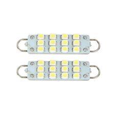 """2 PCS 44mm 12-SMD Rigid Loop White Festoon 1.73"""" LED Light Bulbs 561 562 567 564"""