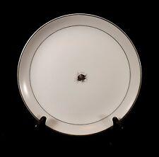 "Fukagawa Arita China 7"" Salad Plate-Taupe Band Black Rose Platinum-7 Available"