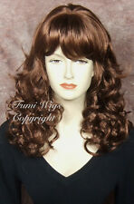 Silky Curly Wig In Medium Auburn Blond / 100% Japanese Fibre Brilliant Quality