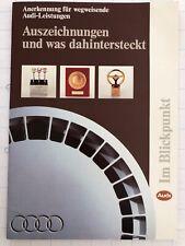 """#10345 Druckschrift """"AUDI - Auszeichnungen ..."""" (ca. 1983)"""