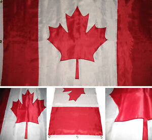 8x12 ft Embroidered Sewn Canada Canadian 300D Nylon Flag 8'x12' grommets