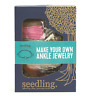 NEW SEEDLING MAKE YOUR OWN ANKLE JEWELLERY CRAFT KIT CHILDREN FASHION DESIGN TOY