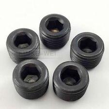 "5pcs 1/4""NPT Black Internal Thread Socket Pipe Plug"