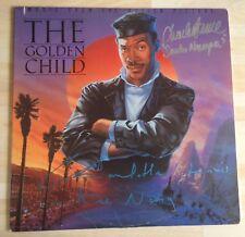 Charles Dance Charlotte Lewis The Golden Child Signed 12 inch VINYL Cover AFTAL