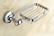 Polished Chrome Bathroom Accessories Wall Mounted Bath Soap Dish Holder sba810
