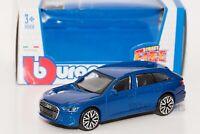 Audi A6 Avant in Blue, Bburago 18-30398, scale 1:43, toy car model gift boy