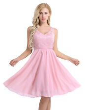 Womens Bridesmaid Wedding Short Dress Chiffon Cocktail Evening Party Prom Gown