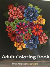 Adult Coloring Books Stress Relieving 30 Floral Designs Flower Garden Relax New