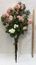 "Lilac Flowers Long Stem 40"" Pink Purple White Artificial Stem Blossoms Set 6"