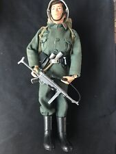 VINTAGE ACTION MAN GERMAN STORMTROOPER FIGURE & UNIFORM - FLOCK HAIR