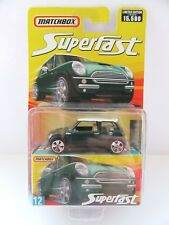 Matchbox Superfast BMW Mini Cooper S - Green w/White Roof - Mint/Boxed