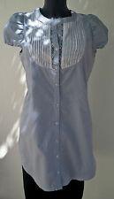 Longue chemise tunique AN'GE fines rayures bleues Taille 3 Très bon état