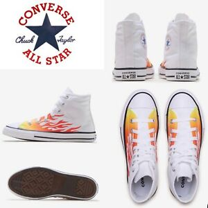 🔥Converse Chuck Taylor All Star High Top Archive Flame 🔥 Pre-School Size 1Y🔥