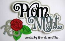 PROM NIGHT school title paper piecing for Premade Scrapbook Page ALBUM by Rhonda