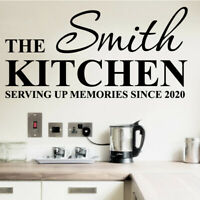 Personalised Family Kitchen Quote Mural Words Home Vinyl Wall Sticker Decal